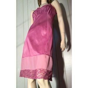 Vintage 60s Glam Luscious Lilac Slinky Slip Dress